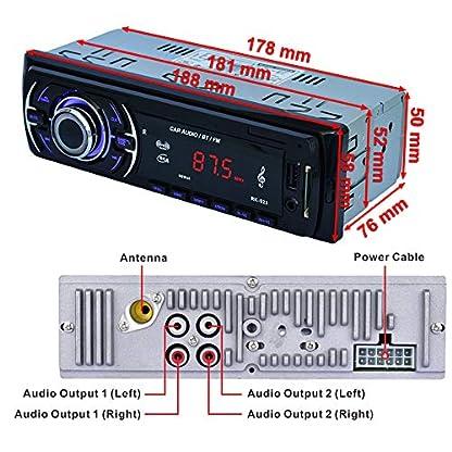 Hoidokly-Autoradio-mit-Bluetooth-Freisprecheinrichtung-4-x-60W-Digital-Media-Receiver-FMUSB-MP3-Media-Player-Drahtlose-Fernbedienung-Enthalten