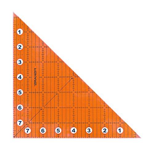 Fiskars Faltbares Lineal für Quadrate und Dreiecke, Acryl, Klar, 8