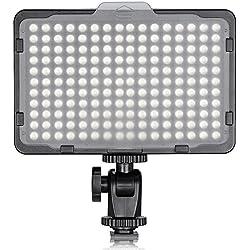 Neewer LED Panneau 176 Torche Vidéo LED - Lampe Vidéo 3200-5600K sur Caméra - Lumière pour Appareil Photo Canon, Nikon, Pentax, Olympus et Autres Numériques SLR Appareils Photo/Caméscopes