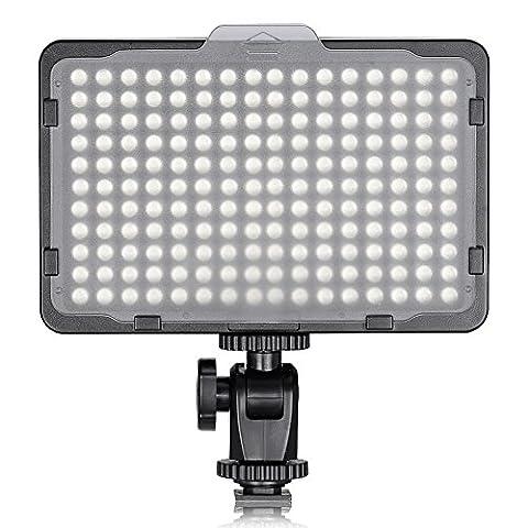 Neewer Foto Studio 176 LED Ultra helle dimmbare auf Kamera Licht mit 1/4-Zoll Gewindehalter für Canon, Nikon, Pentax, Panasonic, Sony, Samsung, Olympus und andere digitale Spiegelreflexkameras (Digital Studio Beleuchtung)