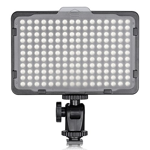 "Neewer Studio fotografico de 176 LED, ultra luminoso, dimmerabile, con filettatura  de 1/4"" Mount per fotocamere digitali reflex, 5600 K"