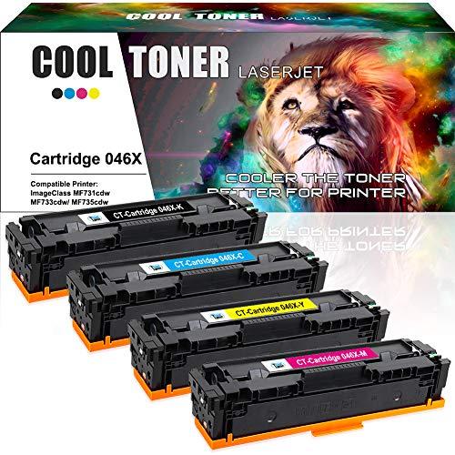 ompatibel für Cartridge 046H 046HK 046HC 046HM 046HY Toner für Canon i-SENSYS MF732Cdw MF734Cdw, Canon i-SENSYS MF735Cx, Canon i-SENSYS LBP653Cdw, Canon i-SENSYS LBP654Cx ()