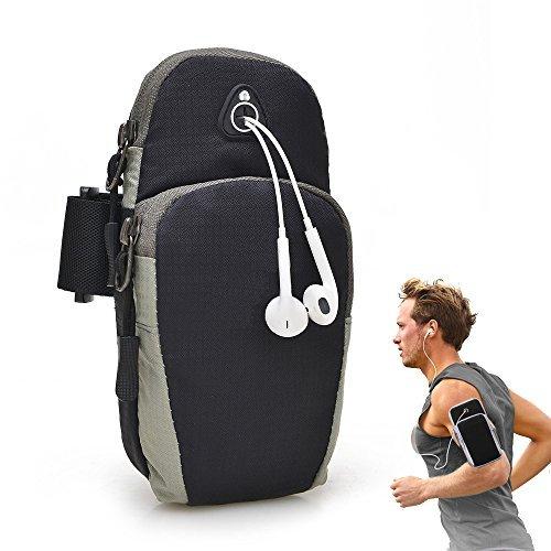 enkrio Outdoor Sport Armband Arm Bag Workout Tasche Casual Arm Paket Handy Halterung Mit Schlüssel Fall für Bewegung Fitness Gym Laufen Radfahren, schwarz - 5s Für Otterbox-handy-fall