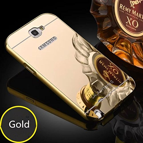 IDEAL For Samsung Galaxy Note 2 / N7100 : IDEAL Luxury Gold Plating Aluminum Metal Back Cover -: Metal Bumper + Acrylic Mirror Back Case For Samsung Galaxy Note 2 / N7100 - GOLD  available at amazon for Rs.269