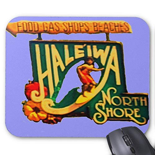 ASKSSD Computer Accessories Anti-Friction Wristband Hawaii North Shore Beach Sign Mousepad -