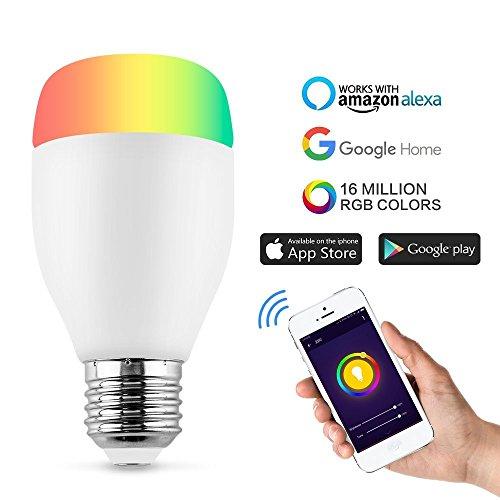 Ampoule Couleur,Horsky Smart Ampoule WIFI Lampe Intelligente...