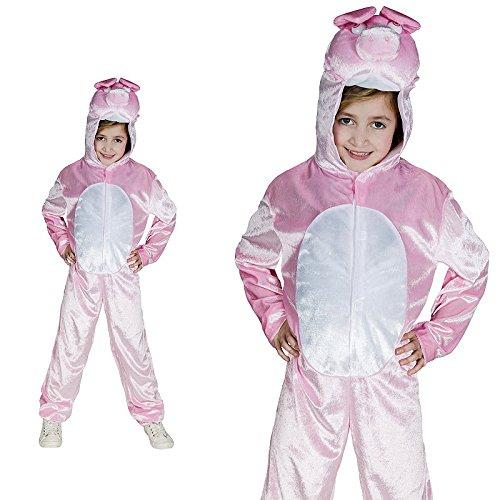 Monster Schwein Rosa Schweinchen Pig Bauernhof Kinderkostüm Einteiler ()