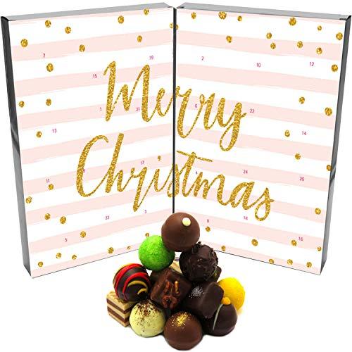 Hallingers Pralinen-Adventskalender - Rosa Weihnachten (Buch-Karton)