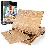 ARTEZA Tischstaffelei | Buchenholz Staffelei mit Schublade und Palette | Robuste Tragbare Holzstaffelei | Ideal für Skizzieren, Zeichnen und Malen mit einer Vielzahl von Medien