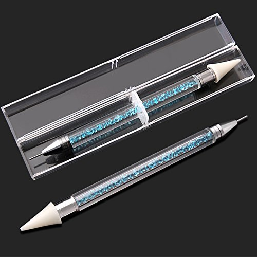 TiooDre DIY Diamond Painting Pen Tools Square Full Diamond Round Embroidery DIY Tools Rhinestone Mosaic Pictures Nail Art Double Head Blue