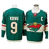 Yajun Mikko Koivu?9/Zach Parise?11/Eric Staal?12 Minnesota wild Eishockey Trikots Jersey NHL Herren Sweatshirts Atmungsaktiv T-Shirt Bekleidung -