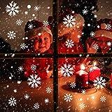 Outus 186 Stücke Schneeflocke Fenster Haften Aufkleber und Weiße Runde Punkt Abziehbild Aufkleber Ornamente für Weihnachten Gefroren Thema Party Winter Schnee Urlaub Lieferungen