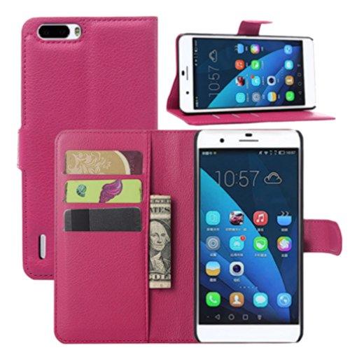 HL Brothers Huawei Honor 6 Plus casi Premium-Custodia a libro in ecopelle con funzione di supporto e porta carte di credito, per Huawei Honor 6 Plus telefono cellulare