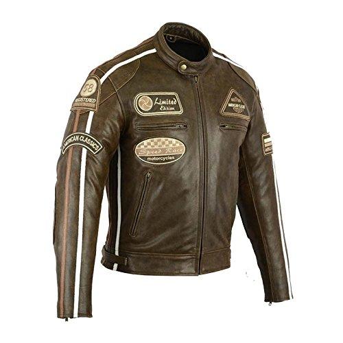 Biker Giacca da moto in pelle, rif: 7868