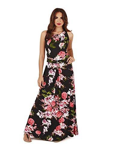 Pistachio-Mujer-Maxi-Estampado-Vestido-De-Flores