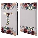 Head Case Designs Offizielle Nature Magick T Blumen Monogramm Blumig Gold 2 Brieftasche Handyhülle aus Leder für iPad Mini 1 / Mini 2 / Mini 3