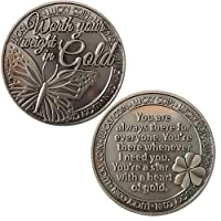 Lucky Coin Sentimental Good Luck Coins Engraved Message Keepsake Gift Set Charm (Worth Your Weight in Gold)