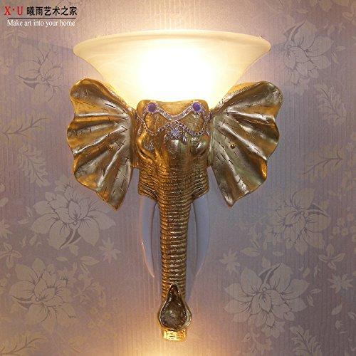 YU-K Lámparas de pared modernos apliques elefante perfecto para bar restaurante Cafe...