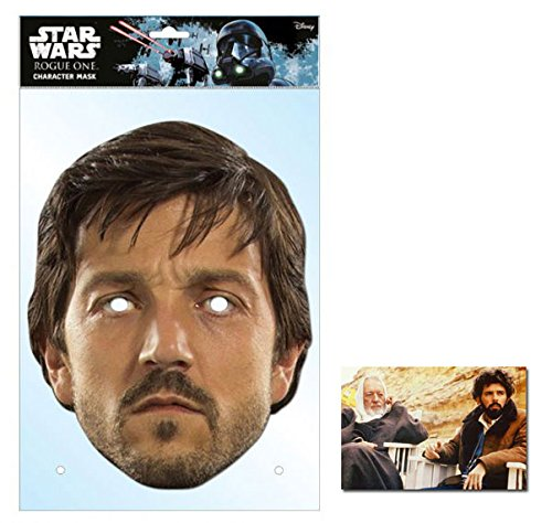 Promi Star Wars Kostüm - Cassian Andor Rogue One: A Stars Wars Single Karte Partei Gesichtsmasken (Maske) Enthält 6X4 (15X10Cm) starfoto