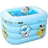 WXFC Baby-aufblasbarer Swimmingpool-starker Schwimmen-Behälter-Baby-Isolierungs-Haushalt scherzt aufblasbare Badewanne, Blue
