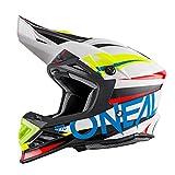 O'Neal 8 Series Motocross Enduro MTB Helm Aggressor weiß/blau/rot 2018 Oneal: Größe: L (59-60cm)