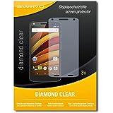 3 x SWIDO Diamond Clear Screen Protector for Motorola Moto X Force - PREMIUM QUALITY (hard-coated, bubble free application)