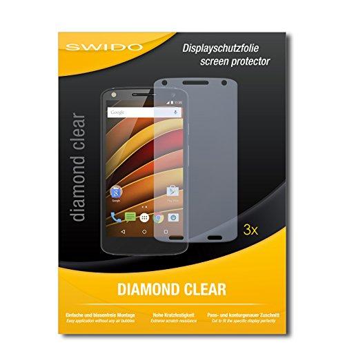 3 x SWIDO® Schutzfolie Motorola Moto X Force Bildschirmschutz Folie