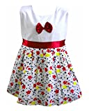 Perky Girl's Cotton Frock (Red,3-4 Years...