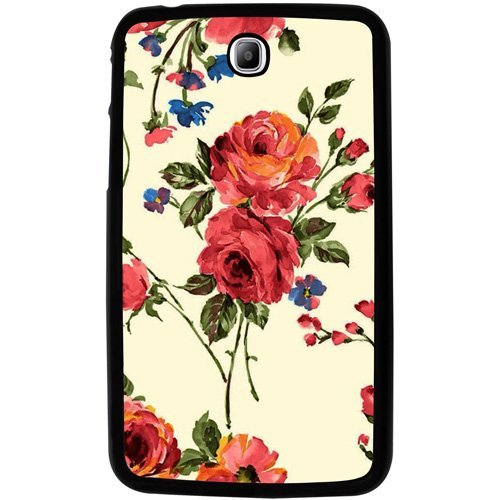 Casotec Vintage Painting Flower Design 2D Hard Back Case Cover for Samsung Galaxy Tab 3 / P3200 7.0 - Black  available at amazon for Rs.229