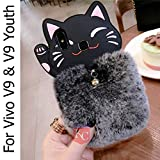 Best Cases Different Phones - KC Cute Cartoon Meow Cat Fluffy Fur Hair Review