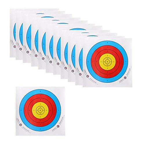 perfk 12 x Cible de Tir à l'Arc pour Arc Recourbé Cible Formation de Tir à l'Arc - 60cm