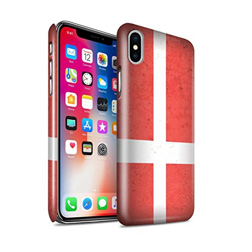 STUFF4 Glanz Snap-On Hülle / Case für Apple iPhone 6+/Plus 5.5 / Mazedonien/Mazedonisch Muster / Europa Flagge Kollektion Dänemark/Dänisch