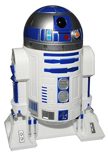 Unbekannt Kurzzeitmesser - 0 bis 60 Minuten - Star Wars - R2 D2 - Roboter / Eieruhr - Küchenuhr Küchenwecker - Droide Starwars - Clone / Kurzzeitwecker - Analog - Stopp..