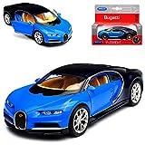 alles-meine GmbH Bugatti Chiron Coupe Blau Ab 2016 ca 1/43 1/36-1/46 Welly Modell Auto mit individiuellem Wunschkennzeichen