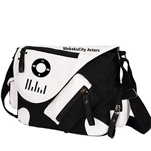 Siawasey anime giapponese Cosplay borsa Satchel zaino messenger bag borsa a tracolla nero One-Punch Man2 Kagerou Project