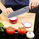Kitchen Emperor Santokumesser, Küchenmesser, Kuechenmesser Scharfe Klinge, Prämie Rostfreier Stahl Chef Messer mit pakakaholzgriff - 5
