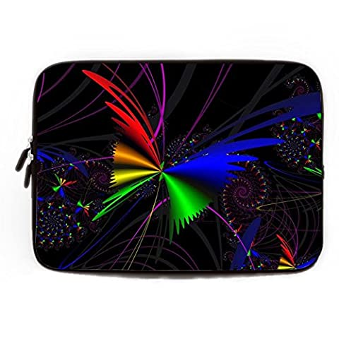 Soft Black Butterfly Sleeve Laptop Case 15 15.4 Inch Computer Case for Laptop Modern Art Thin Soft Neoprene Computer Bag for Macbook Air 15 inch Laptop Computer Sleeve for 15.6
