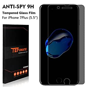 TEFOMATE iPhone 8 Plus Protection écran de Confidentialité, Verre Trempé Protecteur d'écran Anti