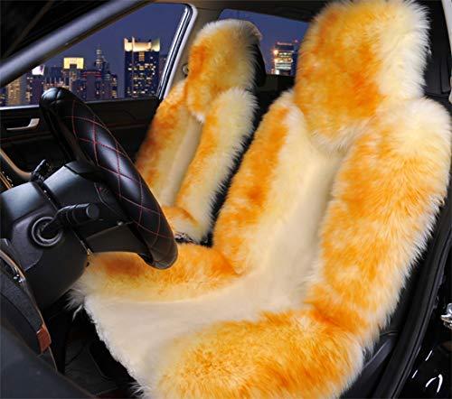 Australien Sheepskin Auto-Sitz Deckt Echte Pelz-Auto-Interieur-Accessoires Kissen Neuesten Winter Stylischen Plüsch-Auto (Volle Satz Von Auto-Sitzabdeckung)