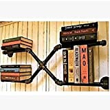 LOFT Wanddekoration Regal Retro Wandregal Bücherregal Wandbehang Rohr Regalwand Wand Hintergrund kreativer dekorativer Multifunktionales Bücherregal Industrielle Dekoration Wand