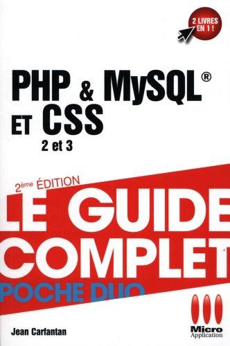 GUIDE COMPLET DUO PHP MYSQL ET CSS par Jean Carfantan