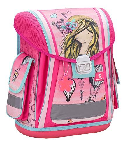 Belmil Ergonomischer Schulranzen Groß Mädchen Grundschule 1, 2, 3 Klasse Pink Rosa (404-5 Ballons)