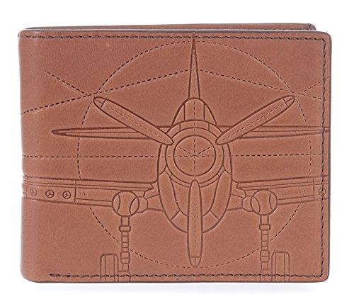 Fossil Herren Geschenkset Geldbörse & Schlüsselanhänger Geldbörse, Braun (Cognac), 1.9x9.5x11.4 cm