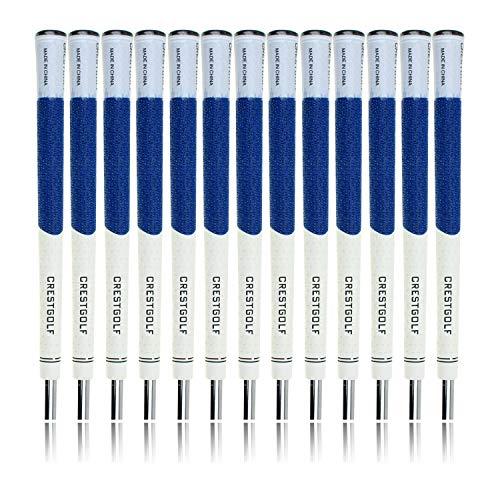 crestgolf multi-compound Golf Putter Griff Golf Club grips-13pcs, Gummi mit Carbon Garn Gewinde, rutschsicher, Standard Größe, blau
