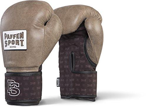 Paffen Sport Allround DRYHAND Boxhandschuhe für das Training; Vintage braun/schwarz; 16UZ -