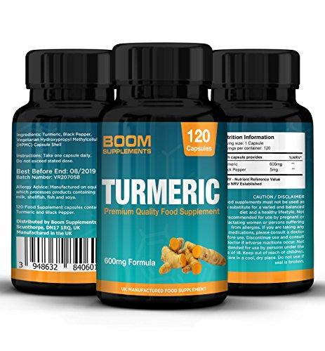 Kurkuma Kapseln Hochdosiert 600 mg Maximaler Stärke | 120 Kurkuma-Kapseln | 4 GANZE Monate Vorrat | Abnehmen, Anti-Entzündlich & Natürliches Antioxidans | Mächtige Curcumin Absorbierung