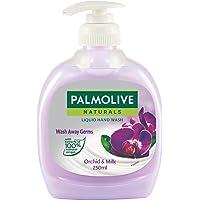 Palmolive Naturals Black Orchid & Milk Liquid Hand Wash, 250ml Dispenser Bottle, Wash Away Germs, Refreshing Fragrance