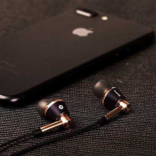 1MORE E1001 Triple-driver Hi-Fi Kopfhörer In-Ear Ohrhörer Hi-Res Audio mit Mikrofon und Fernbedienung Kompatibel mit iOS und Android (golden) - 6
