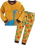 Vaenait baby Kinder Jungen Nachtwaesche Schlafanzug-Top Bottom 2 Stueck Set Dino King-Camel L