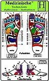 Reflexzonen Indikation Füsse - Medizinische Taschen-Karte: 4 Karten Set -